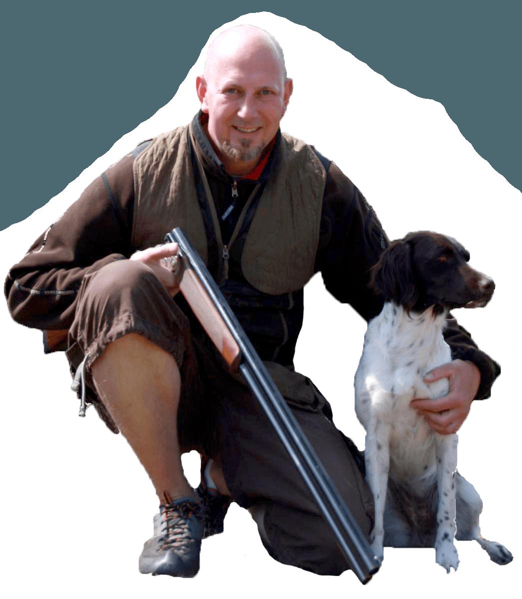 jagttegnslærer og hund